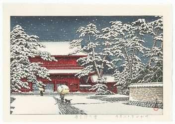 Zojoji Temple in Snow, 1929 by Kawase Hasui