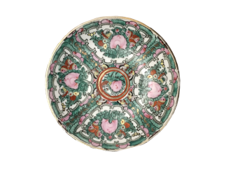 Famille Rose Style Chinese Plate