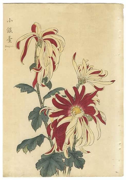 Shogindai, 1893 Woodblock Print 9 1/2 x 14 1/2 inches