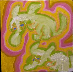 Untitled (Green monsters) by Hiroaki Onuma