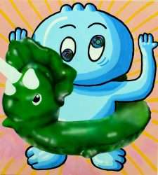 Inflatable Triceratops by Hiroaki Onuma