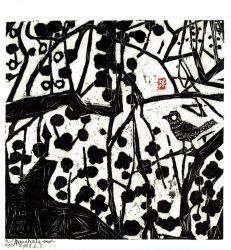 Ume Uguisu no saku by Shikō Munakata