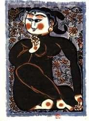 Hizakura no Saku by Shikō Munakata