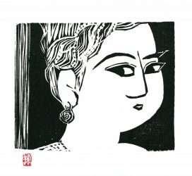 Portrait of Ikuko from Tanizaki Junichiro's The Key by Shiko Munakata
